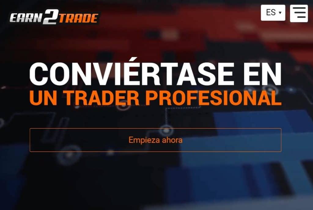 earn2trade cuenta financiada