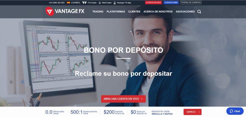 Vantage FX bróker de Forex y CFDs